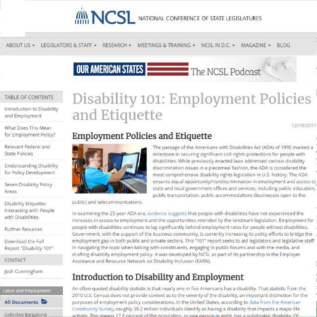 Disability 101 Website