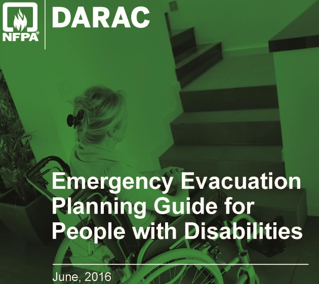 screen shot of cover of Emergency Evacuation Planning Guide for People with Disabilities