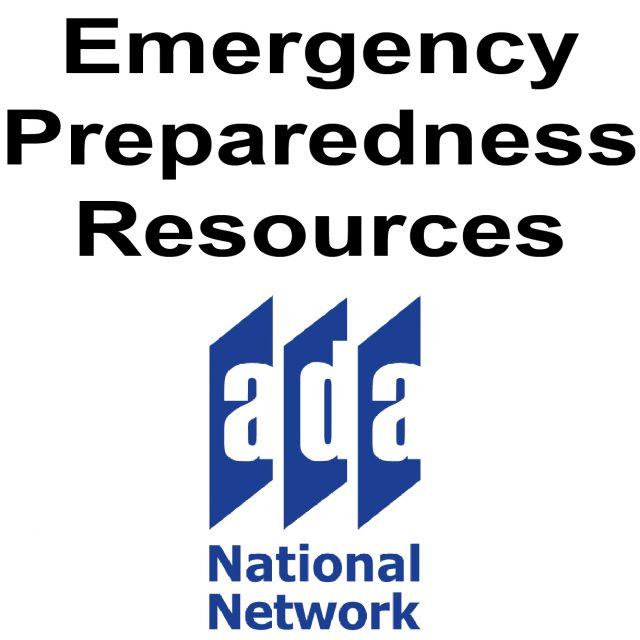 emergency preparedness resources ada national network