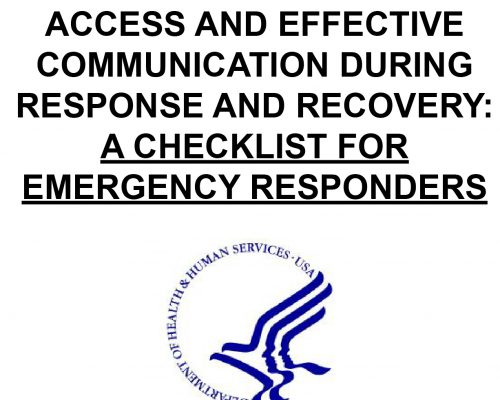 Ensuring Language Access and Effective Communication During Response and Recovery:…
