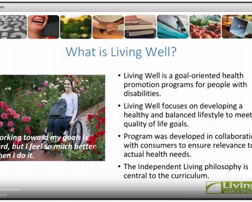 Webinar: Introduction to Living Well with a Disability Program