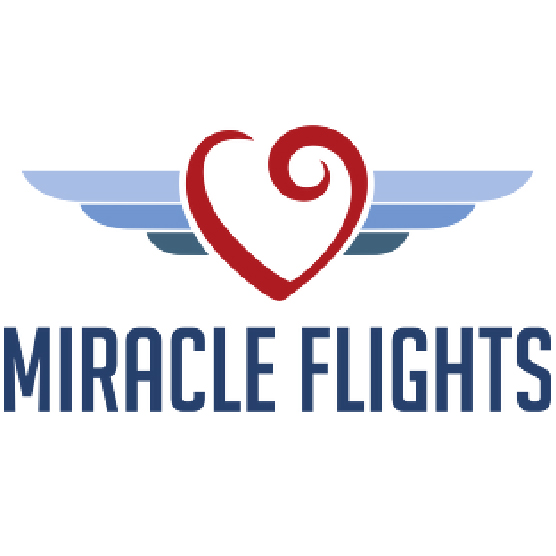 Miracle Flights heart with wings logo