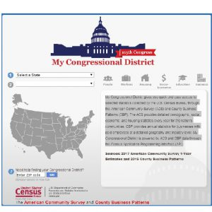 My Congressional District tool screenshot