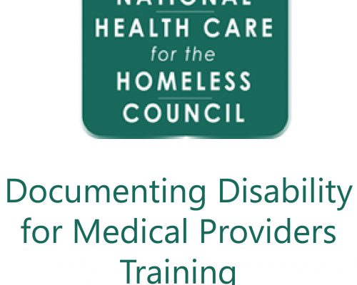 Documenting Disability for Medical Providers (National Health Care for the…