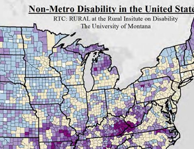 Map Facts: Disability in Rural America - Rural Disability ... on corporate america map, flat america map, rural united states map, technology america map, indigenous america map, green america map, state america map, religious america map, transport america map, animals america map, latin america and the caribbean map, south america map, mountain america map, modern america map, north america population map, unit america map, small america map, western america map, religion america map,