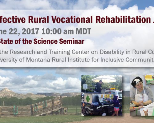 Webinar: Effective Rural Vocational Rehabilitation Job Development