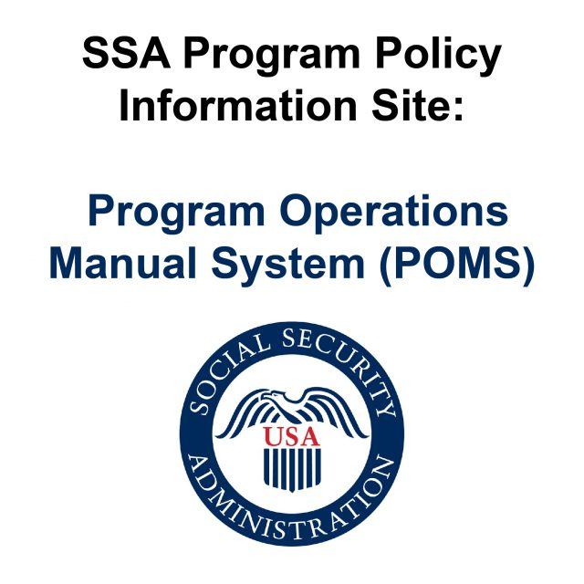 SSA Program Policy Information Site POMS