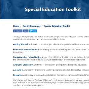 Special Education Toolkit