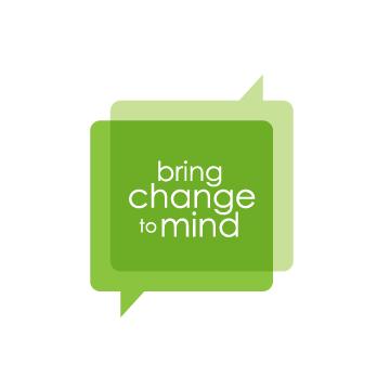 Bring Change to Mind Logo (green talk bubbles)