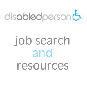 disabled person job search and resources