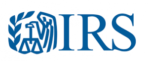 IRS logo - eagle holding scales