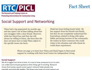 social support and networking factsheet